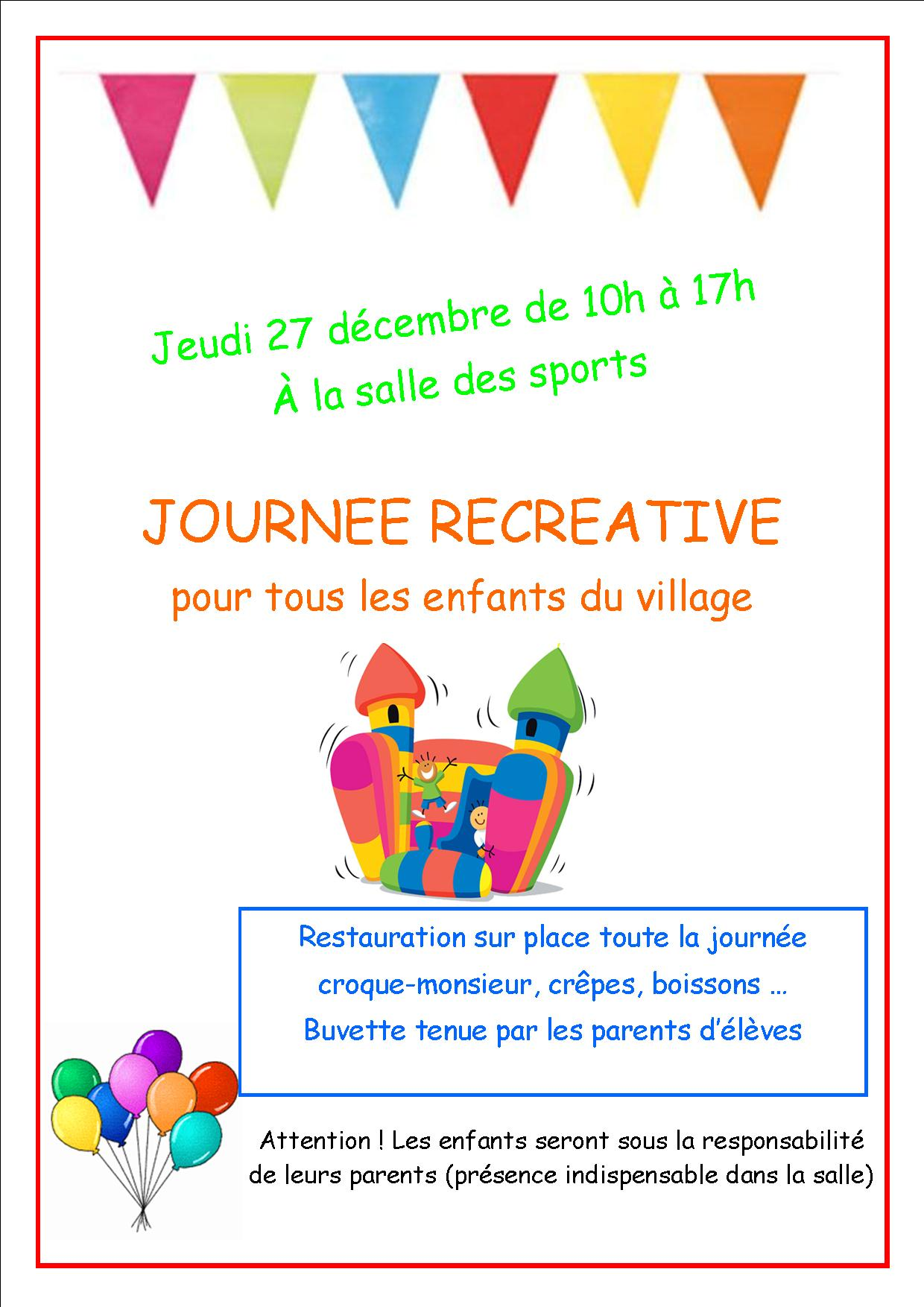 Affiche journee recreative 2018