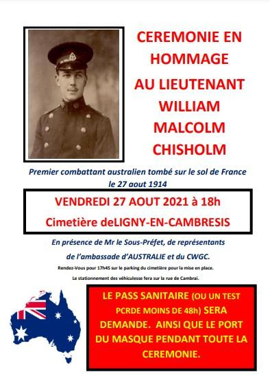 affiche Chisholm PASS SANITAIRE