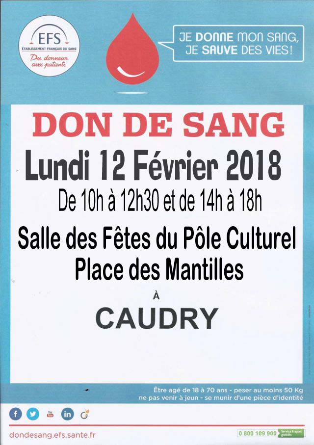 Don du sang lundi 12 fevrier 2018 copie 1